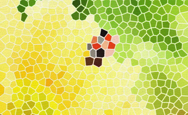Honeycomb texture with yellow and green color