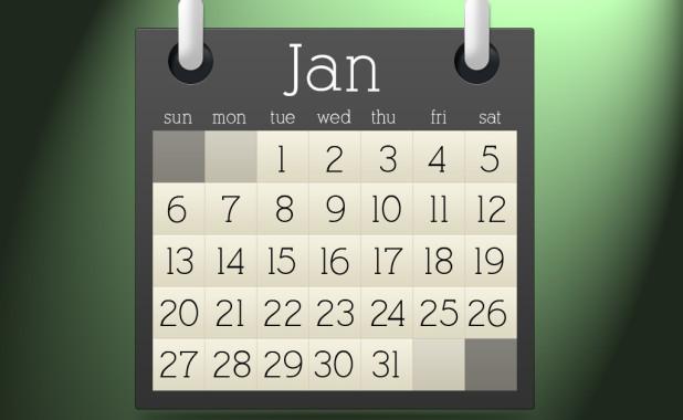 calendar psd graphic
