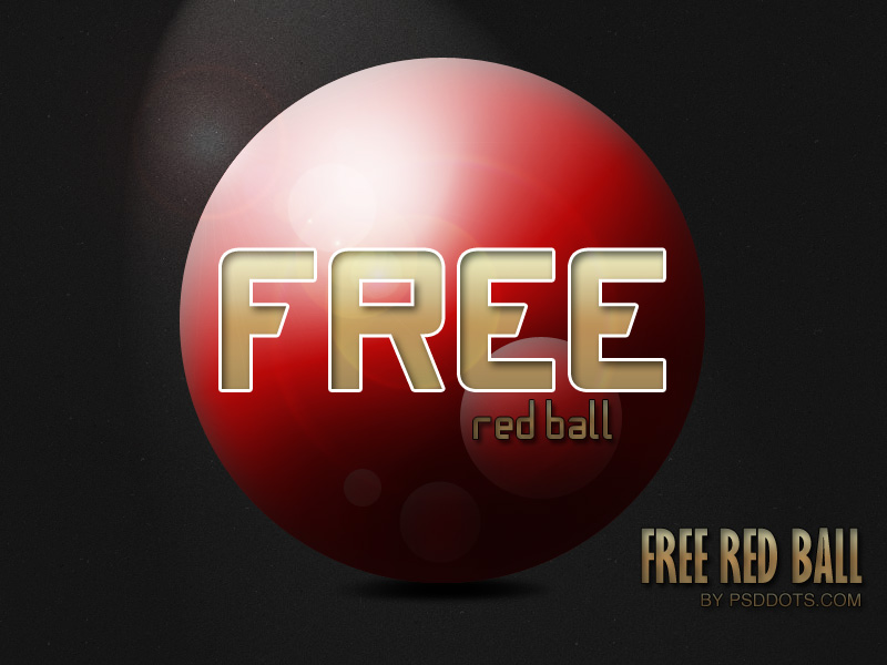 Free Red Ball PSD