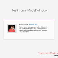 Testimonial Model Window Mockup – PSD