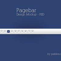 Pagebar Design Mockup – PSD