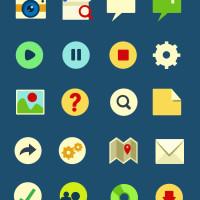 30 Plus Flat UI Icons