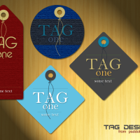 Tag Design Template – PSD