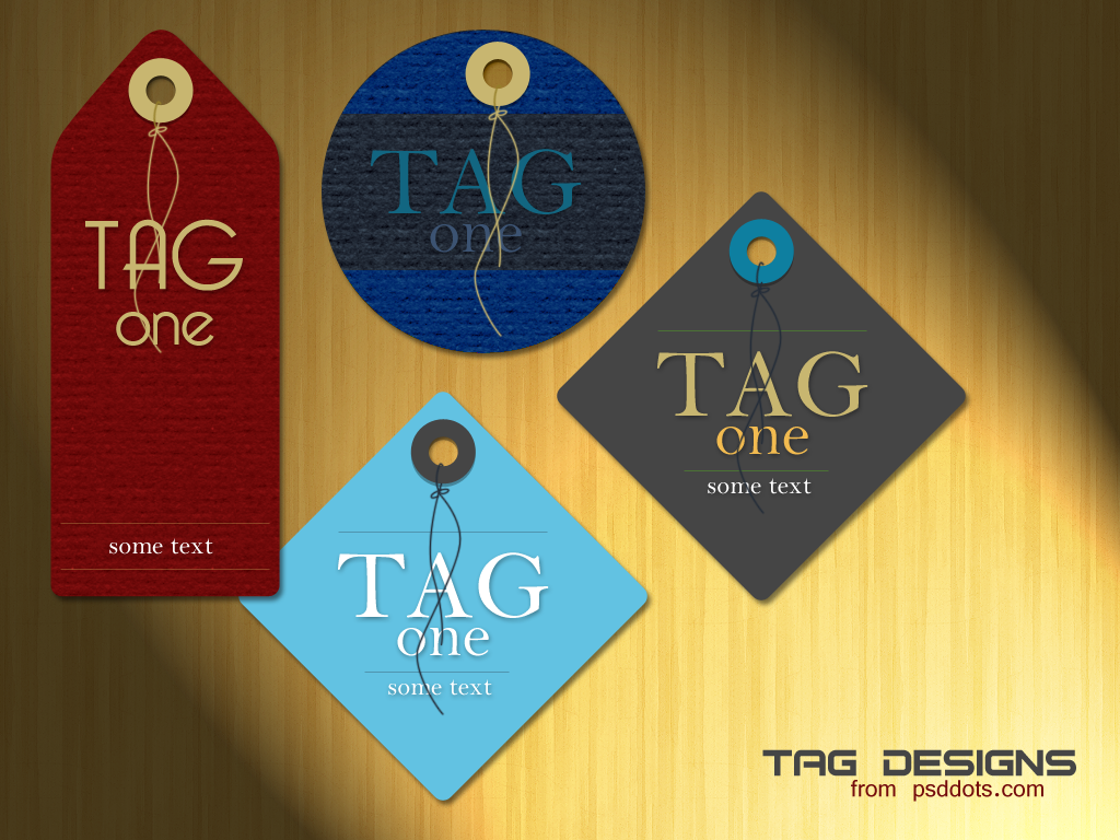 tag design template psd