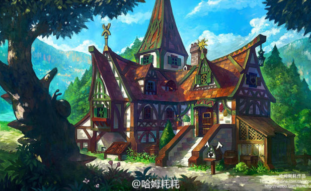 Fantasy House Design – A Digital Art from Min Hao Feng